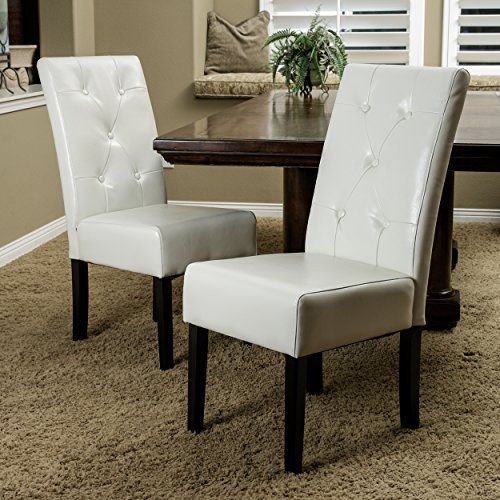 Christopher Knight Home 214521 Alexander Ivory Bonded Leather Dining Chair, (Chairs Leather Kitchen Cream)