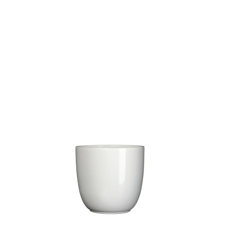 MICA Decorations 144682Tusca Cache-Pot en céramique l'intérieur, Céramique, Blanc, 10x 10x 9cm Edelman B.V.