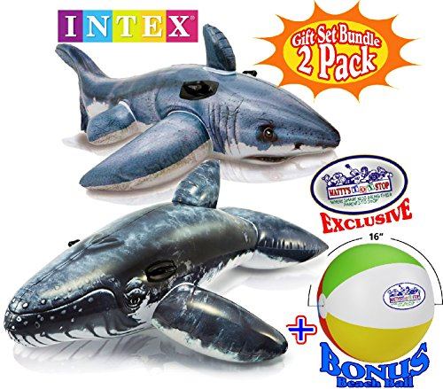 Intex Inflatable Pool Floats Realistic Great White Shark Rid