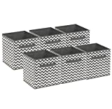 Sorbus Foldable Storage Cube Basket Bin, 6 Pack,Chevron Pattern (Gray)