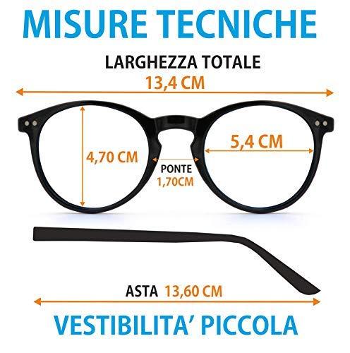 Piccola 2018 Occhiali Round Vestibilita' Isurf Modello Classic Marrone Outfit Rotondo Twomole Da Marca Basic Sole UUpHOgFwP