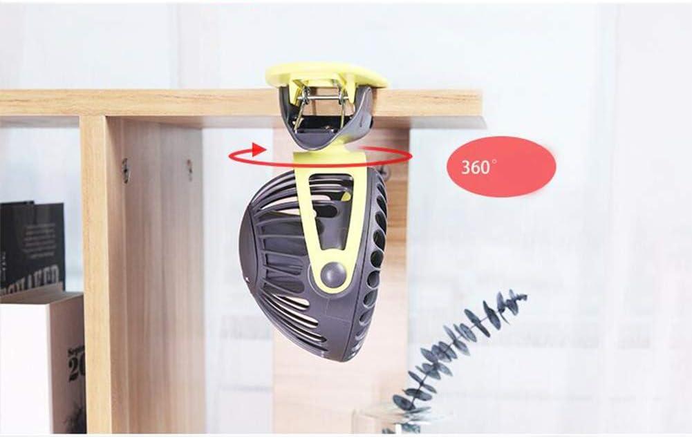 Alician Small Fan Charging USB Fan Desktop Clip 4-Inch 6400mA Space Gray 4000mAh