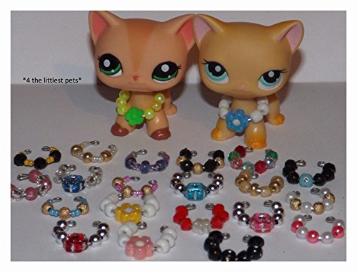 Littlest Pet Shop accessories clothes 3pc random collars LPS CAT NOT INCLUDED from Noa Store