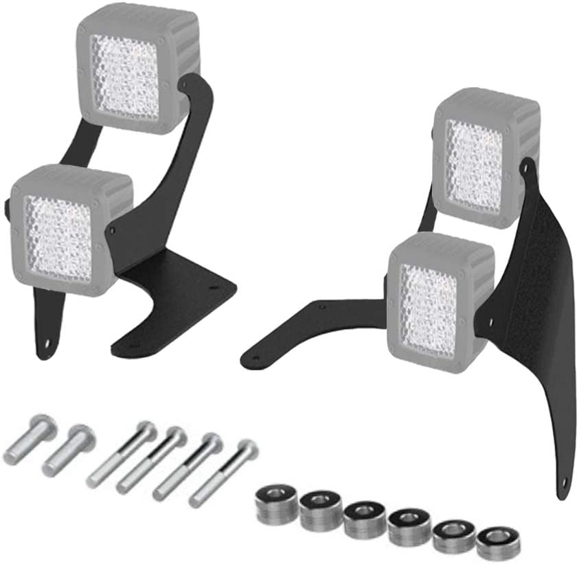 MOTL Dual A-pillar Mounting Brackets for Pod LED light Cube LED light Fit JEEP Wrangler JL 1 pair