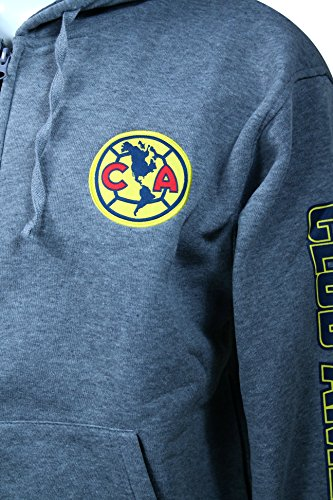 Amazon.com : Club America Zipper Front Fleece Jacket Sweatshirt Official License Soccer Hoodie Large 016 : Sports & Outdoors