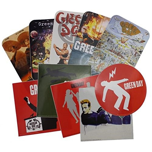Green Day official 10 sticker set - Green Day Stickers
