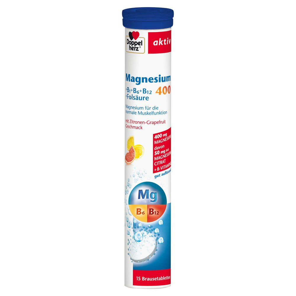 Amazon.com : Doppelherz aktiv Magnesium 400 Brausetabletten 15 pcs : Grocery & Gourmet Food