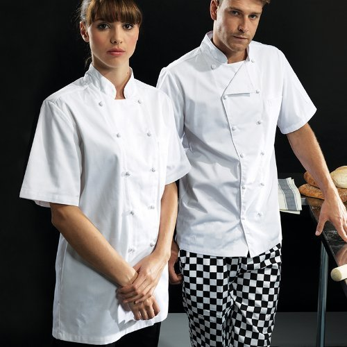 (Premier ambassador Short Sleeve Chefs Jacket - White - 2XL)