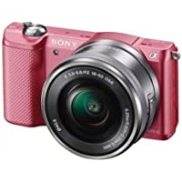Sony Alpha a5000 ILCE5000L/P 20.1 MP Interchangeable Lens Camera with 16-50mm OSS Lens (Pink)