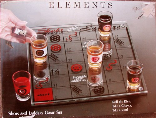 Shots And Ladders - A Drinking Game for Adults by Syratech