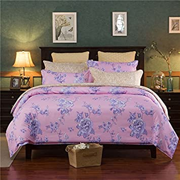 4pcs Duvet Cover Set Beddingset Without Comforter Duvet Cover Flat Sheet Pillowcase XS Twin Full Queen