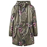 Joules Golightly Printed Waterproof Womens Packaway Coat (Z) Grape Leaf Harvest Floral US4
