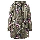 Joules Golightly Printed Waterproof Womens Packaway Coat (Z) Grape Leaf Harvest Floral UK12 EU40 US8
