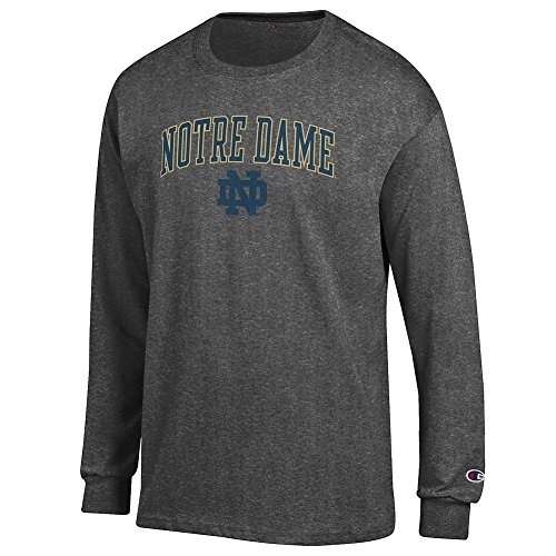 Notre Dame Fighting Irish Long Sleeve Tshirt Charcoal - XXL