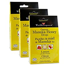 WEDDERSPOON Organic Manuka Honey Drops (3 x Lemons - 120 Gr)