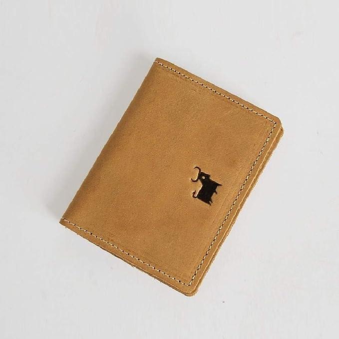 KXCLL Handmade Card Case Monedero Vintage Crazy Horse ...