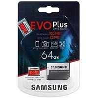 Samsung EVO Plus 64GB microSDXC UHS-I U1 100MB/s Full HD Hafıza Kartı with Adapter (MB-MC64HA)