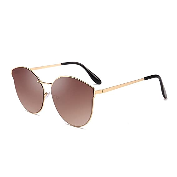 Kinglly Unisex Aviator Mirror Sunglasses Women Men Retro Fashion Shades Integrated Glasses