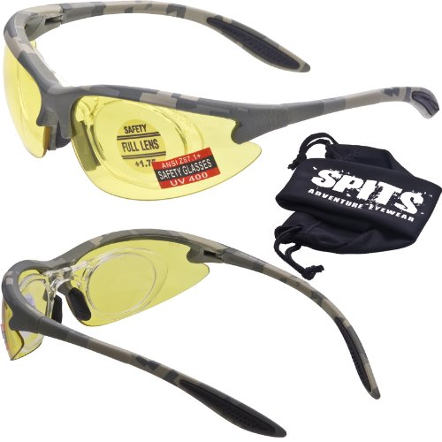 - MAGSHOT Hunting Shooting Safety Glasses ACU Camo Frame 1.25+ Full Magnifying Removable Adapter