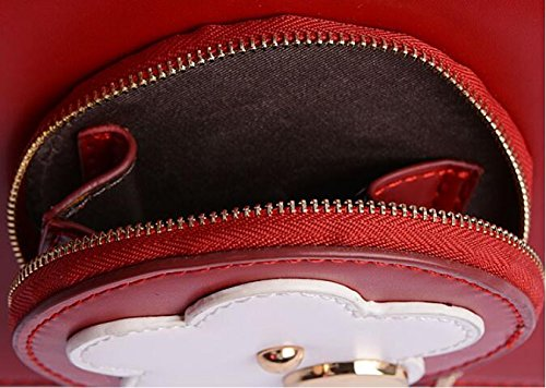 Bags Flowers Cross New Shoulder Handbag Top Leather Bag Female Red Fashion Body handle 5IPwIq