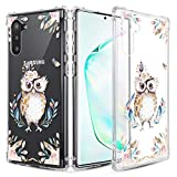 Caka Clear Case for Galaxy Note 10 Floral Clear Case Flower Pattern Girly Slim Anti Scratch Excellent Grip Premium Soft TPU Protective Case for Galaxy Note 10 (Owl)
