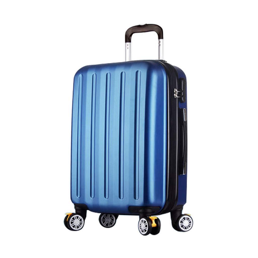 ハンド荷物スーツケース超軽量ABSハードシェル旅行は4つのホイール、航空&詳細情報のために承認されたハードシェルトロリーサイズのアドオンキャビンハンド荷物スーツケースキャリー B07P6J9SM8