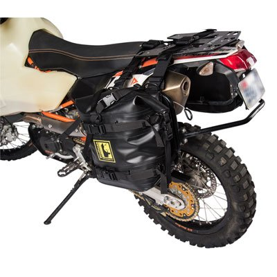 Tusk Pannier Racks with Wolfman Expedition Dry Saddle Bags BLACK - HONDA Africa Twin CRF1000 (Africa Expedition)