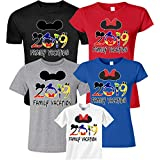 Disney Family Vacation 2019 Mickey & Minnie Ears Youth Adult Toddler Cute Matching T-Shirts S Adult Lady Jr Cut