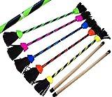 FLASH Pro Flower Stick Set (5 Colours) Silicone Coated Flowerstick & Handsticks! Suprime Quality, Fiberglass Shaft, Silicone Grip, Suede Tassels, Fastening Strap.PRICE IS FOR ONE STICK(UV Blue)