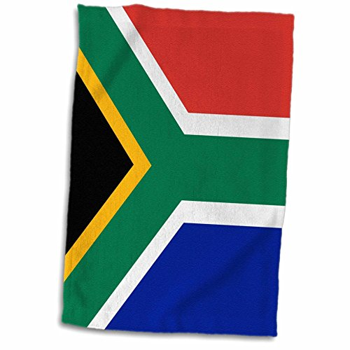 3D Rose Flag of South Africa-Colorful Red Green Blue Black White Yellow Multicolor African World Souvenir Towel, 15
