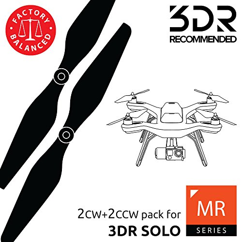 - MAS Propellers for 3DR Solo in Black - x4 in Set