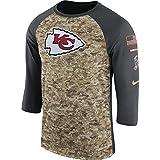 NIKE Men's Kansas City Chiefs Dry Tee Legend 3/4 STS Raglan Shirt