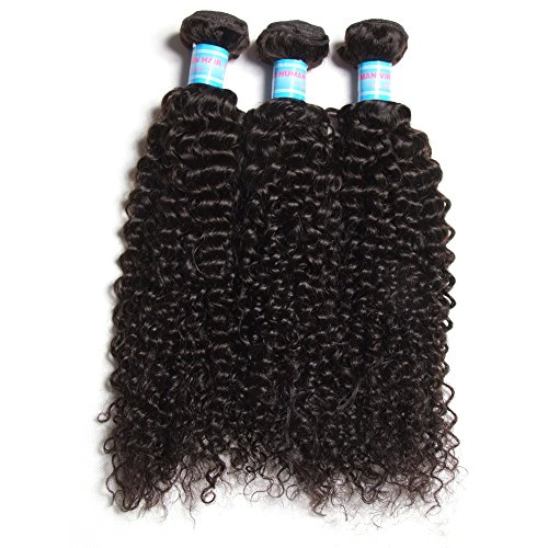 Green-Hair-Brazilian-Virgin-Human-Hair-Jerry-Curly-Pack-of-3-Hair-Weave-Weft-Extensions-Natural-Color-95-100gBundle