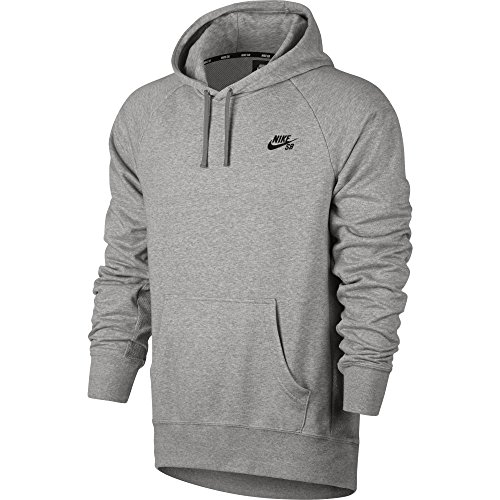 Nike SB Everett Men's Pullover Hoodie (X-Large, Dark Grey Heather/Black)