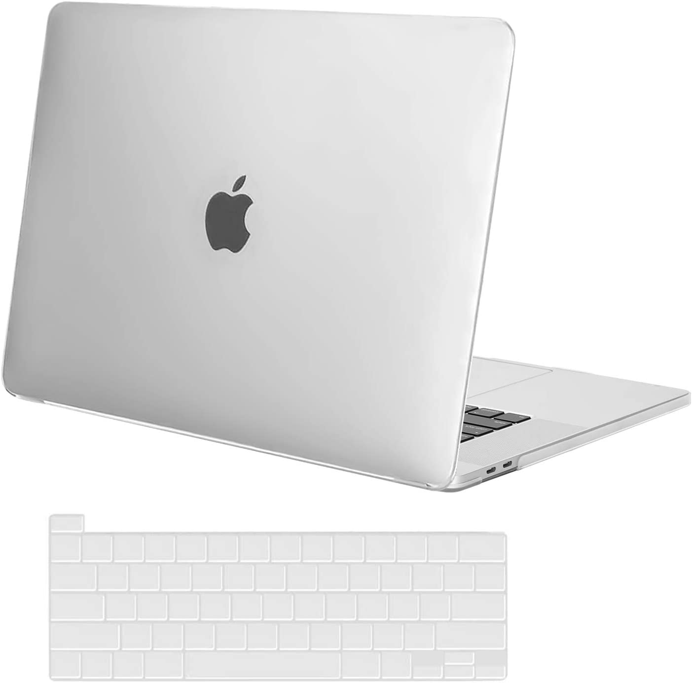 MOSISO MacBook Pro 16 inch Case 2019 Release A2141 with Touch Bar & Touch ID, Ultra Slim Protective Plastic Hard Shell Case & Keyboard Cover Skin Compatible with MacBook Pro 16 inch, Frost
