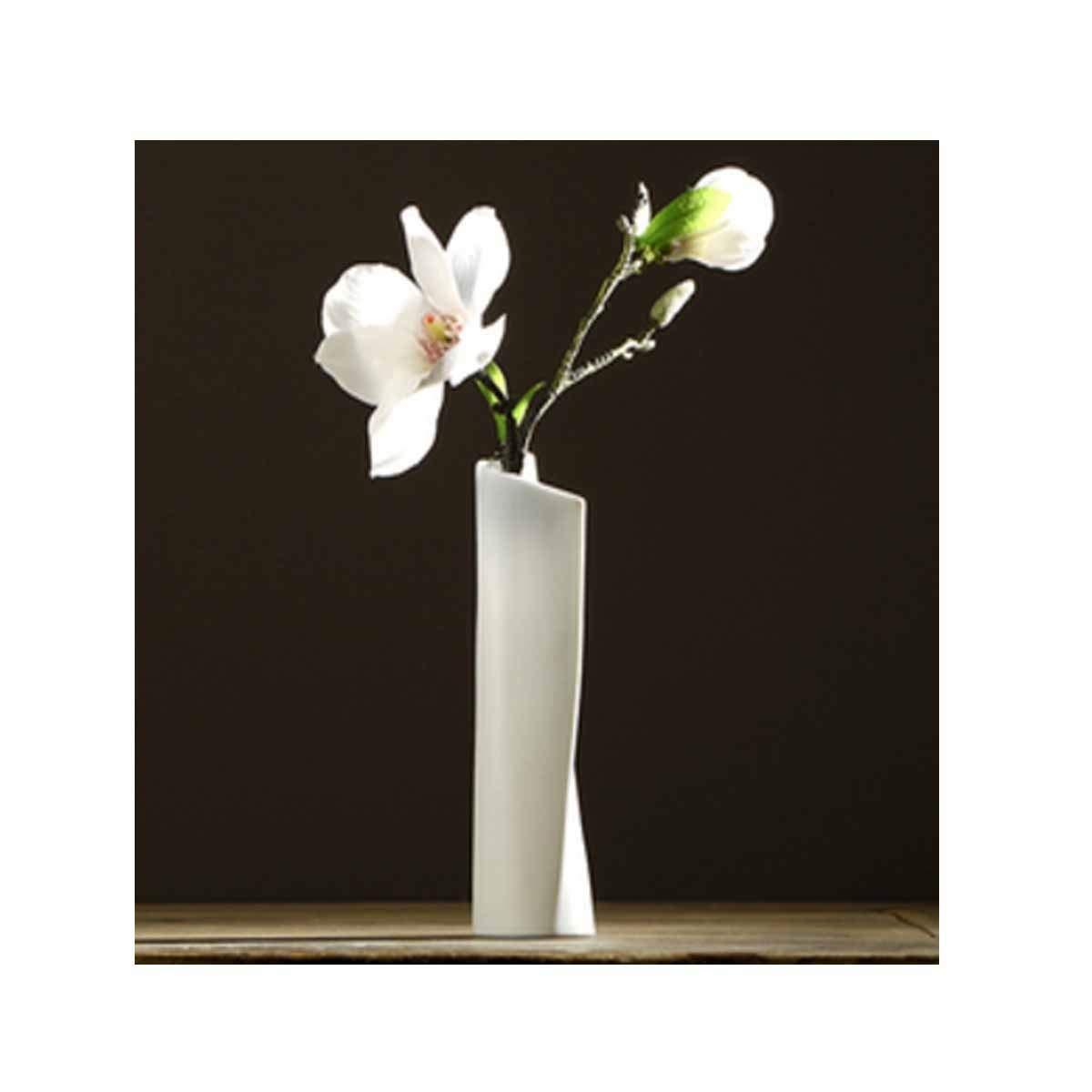花瓶、新しい中国のセラミック花瓶、シンプルな家の居間のオフィスの装飾花瓶の装飾、白 (Color : White 3) B07RV5QVKN White 3