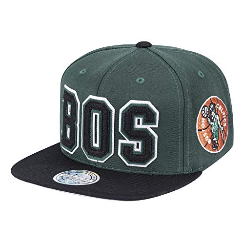 - Mitchell & Ness NBA Team Logo Retaggio 110Flex Adjustable Snapback Cap (Boston Celtics)