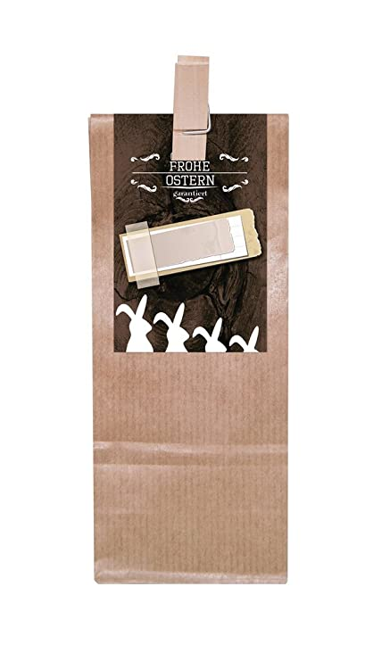 10 marrón bolsa de regalo con base de pergamino con madera ...