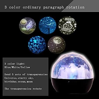 Giratoria Proyector de Estrellas luz del proyector LED lámpara de ...