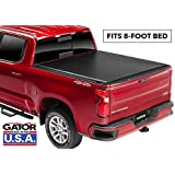 Gator ETX Soft Roll Up Truck Bed Tonneau Cover | 53108 | fits 07-13 GMC Sierra & Chevrolet Silverado 1500 8' Bed | Made in the USA