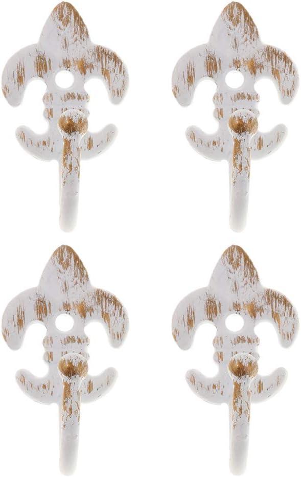 Homyl 2 Paar Metall Retro Vorhanghaken Vorhang Wandhalter Gardine Raffhalter Wei/ß