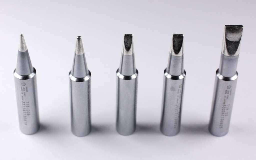 Hakko T18 Series Chisel Pack with T18 D08 D12 D24 D32 S3 Tips Model