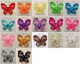 """2"""" (2.54cm) Glitter Butterfly - Party Table Scatter Wedding Craft Card - 12pk"""