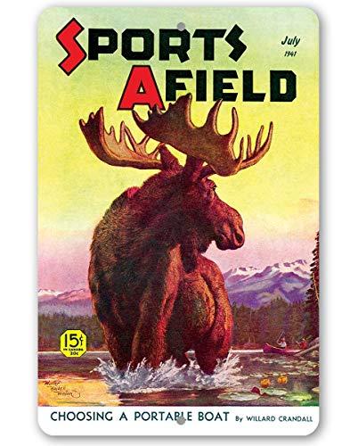 (Sports Afield Lake Moose Metal Sign - 8