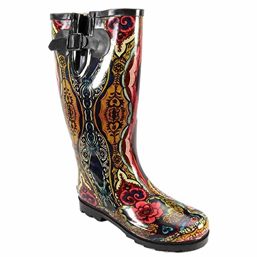 Corkys Victorian Boots Tall Brand womens Waterproof Blue Shaft Rain Tw4qfH