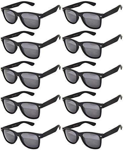 Classic Vintage Black Sunglasses Smoke Lens 10 Pairs - Wholesale Frame Eyeglass