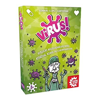 GAMEFACTORY 646239 Virus! Multi Coloured Card Game: Toys & Games