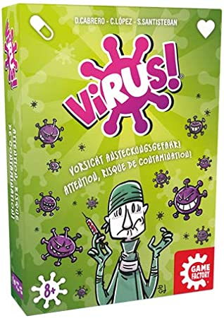 GAMEFACTORY 646239 Virus! Juego de Cartas, Multicolor: Amazon.es ...