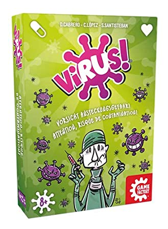 Amazon.com: GAMEFACTORY 646239 Virus! Multi Coloured Card ...