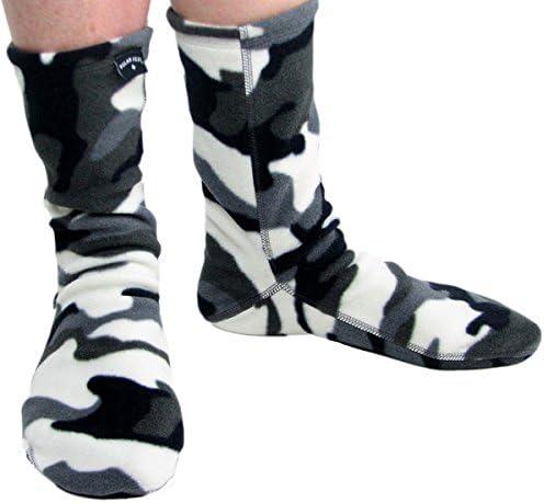 Unisex Grey Color Polar Feet Fleece Socks Made in Canada